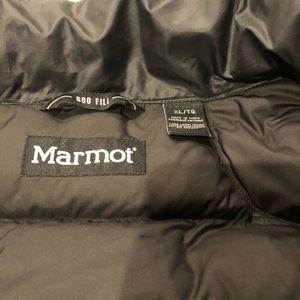 Men's Black 800 Fill Marmot Coat